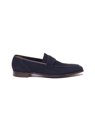 Main View - Click To Enlarge - GEORGE CLEVERLEY - 'George' suede penny loafers