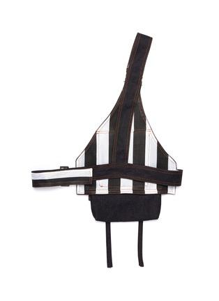 Detail View - Click To Enlarge - Chris Ran Lin - Patch pocket denim harness bag