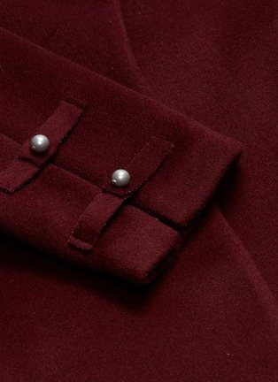 - Chris Ran Lin - Button tab sleeve belted coat