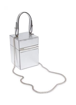 Detail View - Click To Enlarge - OSCAR DE LA RENTA - 'Alibi' mini metallic leather box bag