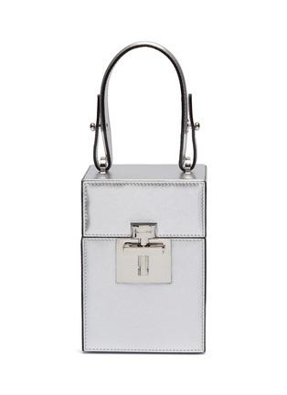 Main View - Click To Enlarge - OSCAR DE LA RENTA - 'Alibi' mini metallic leather box bag