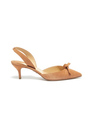 Main View - Click To Enlarge - PAUL ANDREW - 'Rhea' knot suede slingback pumps