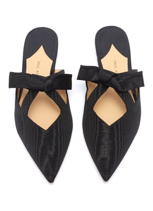 Detail View - Click To Enlarge - PAUL ANDREW - 'Little Dear' cutout bow moire slides