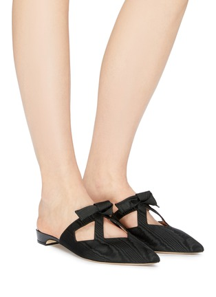 Figure View - Click To Enlarge - PAUL ANDREW - 'Little Dear' cutout bow moire slides