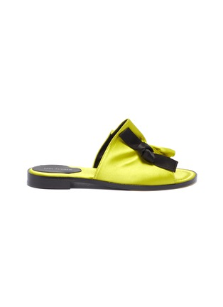 Main View - Click To Enlarge - PAUL ANDREW - 'Inside Story' knot ruched satin slide sandals