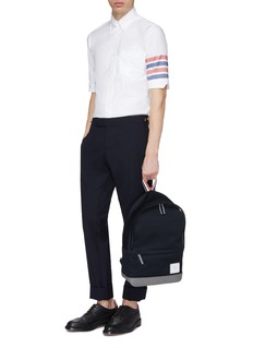 Thom Browne Chest pocket stripe short sleeve shirt