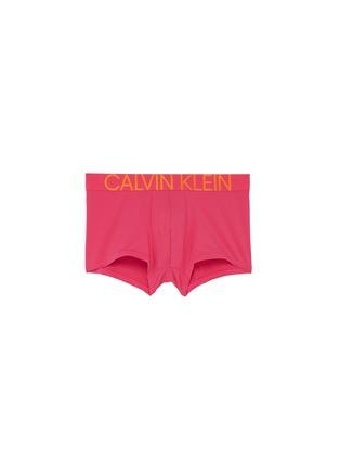 Main View - Click To Enlarge - CALVIN KLEIN UNDERWEAR - 'Statement 1981' logo waistband microfibre trunks