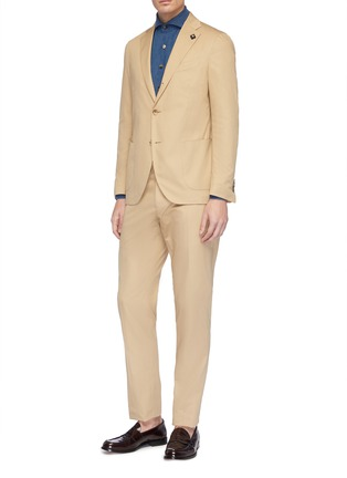 Front View - Click To Enlarge - LARDINI - Cotton twill suit