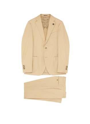 Main View - Click To Enlarge - LARDINI - Cotton twill suit