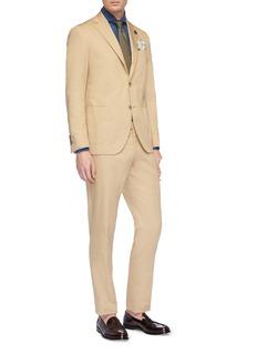 Lardini Check plaid flax shirt
