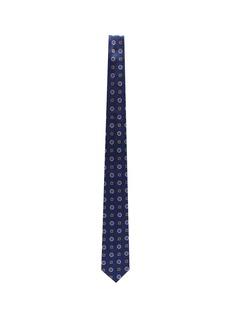 Lardini Floral embroidered silk tie