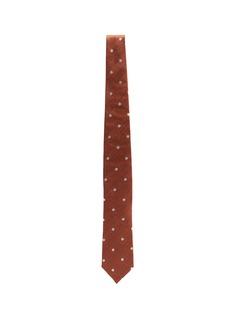 Lardini Polka dot embroidered silk tie