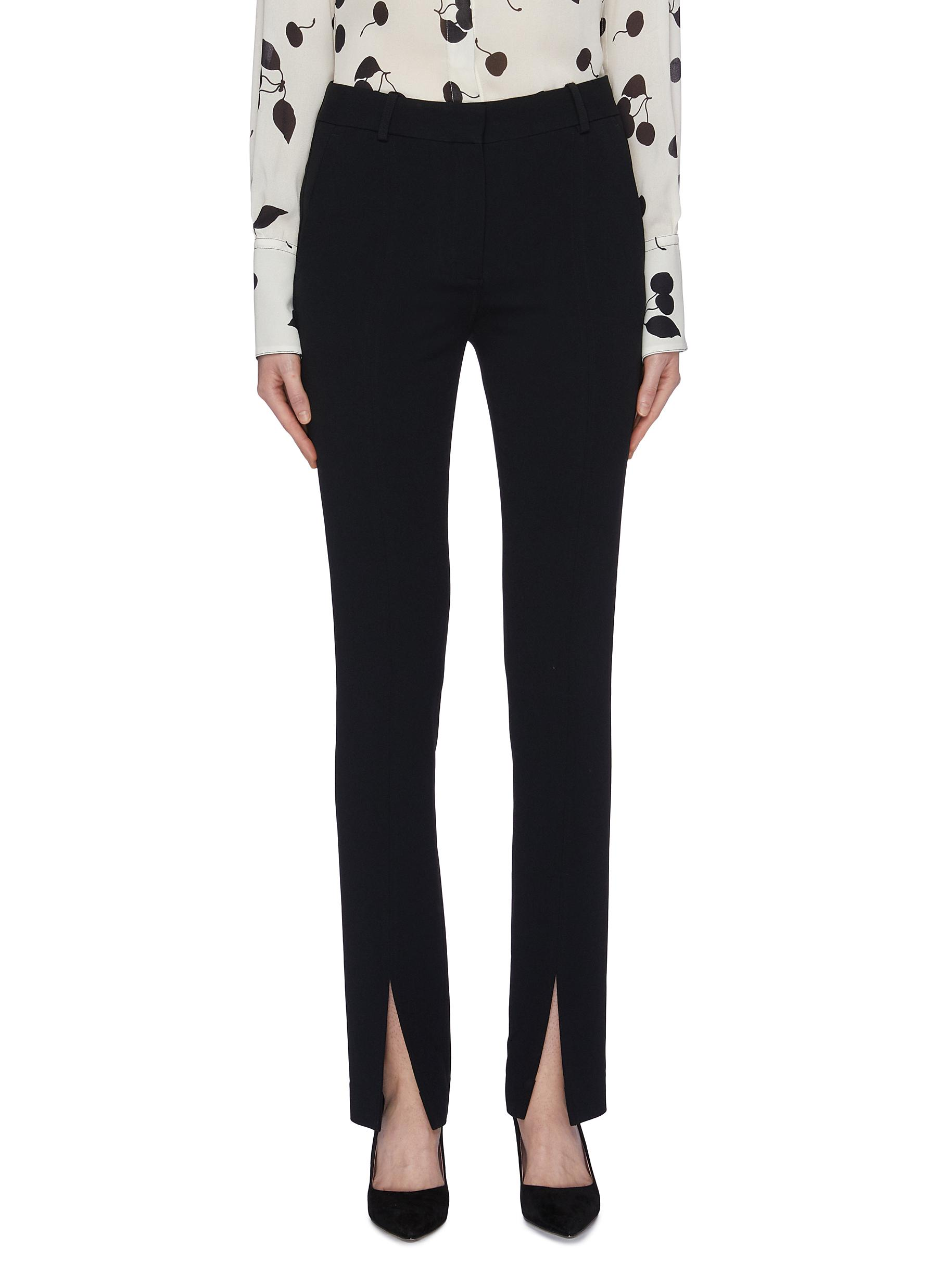 Split cuff cady suiting pants by Victoria Beckham