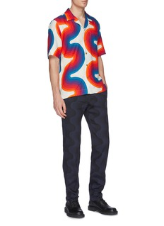 Dries Van Noten x Verner Panton 'Carlton' wave print linen short sleeve shirt
