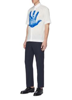 Dries Van Noten x Verner Panton 'Clasen' hand print short sleeve shirt