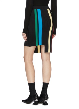 Back View - Click To Enlarge - PH5 - Staggered hem stripe knit skirt