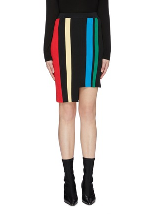 Main View - Click To Enlarge - PH5 - Staggered hem stripe knit skirt