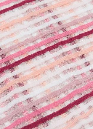 - PH5 - Check plaid velvet flock stripe mesh overlay sweater