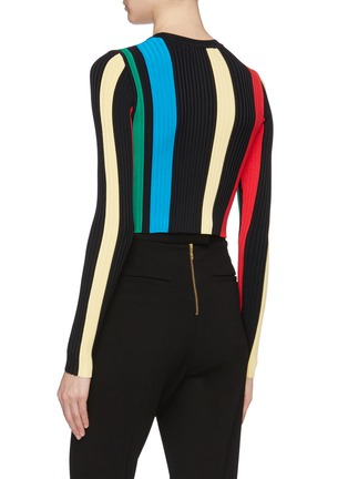Back View - Click To Enlarge - PH5 - Stripe rib knit top