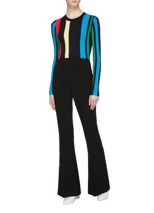 Figure View - Click To Enlarge - PH5 - Stripe rib knit top