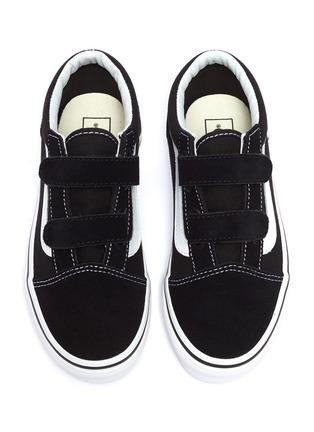 Figure View - Click To Enlarge - VANS - 'Old Skool V' canvas kids sneakers