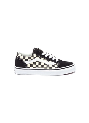 5b1da3d1a8 Vans  Old Skool V  checkerboard canvas kids sneakers