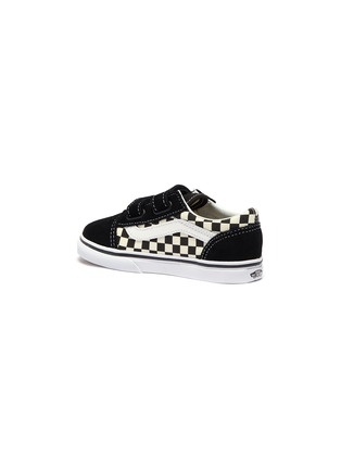 Detail View - Click To Enlarge - VANS - 'Old Skool V' checkerboard canvas toddler sneakers