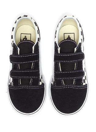 Figure View - Click To Enlarge - VANS - 'Old Skool V' checkerboard canvas toddler sneakers