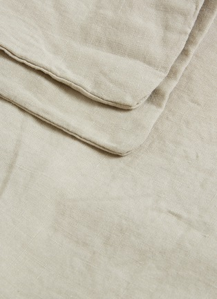 Detail View - Click To Enlarge - SOCIETY LIMONTA - Rem king size linen duvet cover – Griege