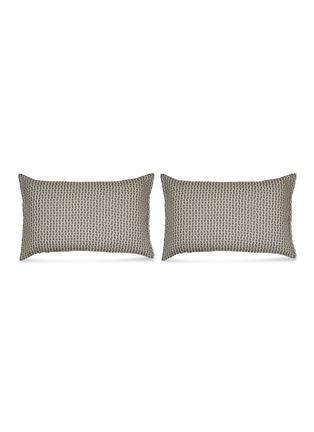 Main View - Click To Enlarge - SOCIETY LIMONTA - Nap Twin pillowcase set – Fumo