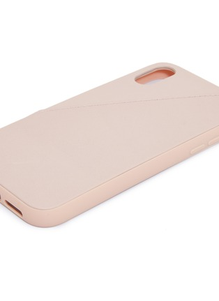 Detail View - Click To Enlarge - NATIVE UNION - CLIC Card leather iPhone XR case – Rose