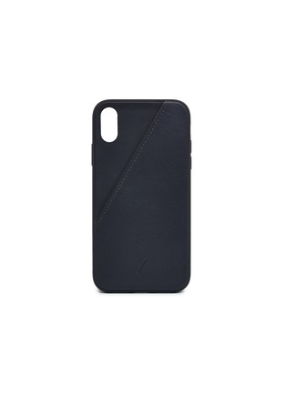 Main View - Click To Enlarge - Native Union - CLIC Card leather iPhone XR case – Black