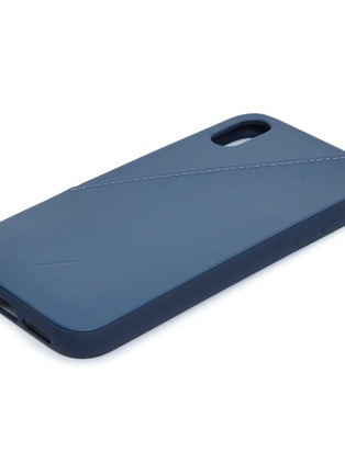 Detail View - Click To Enlarge - NATIVE UNION - CLIC Card leather iPhone XR case – Navy
