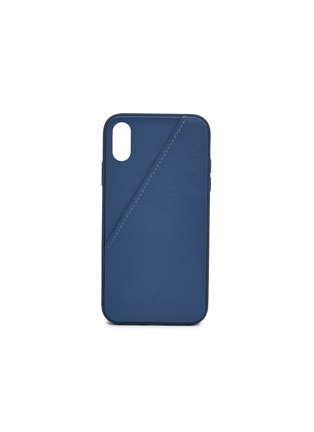 Main View - Click To Enlarge - NATIVE UNION - CLIC Card leather iPhone XR case – Navy
