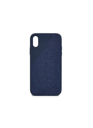 Main View - Click To Enlarge - Native Union - CLIC Canvas iPhone XR case – Navy