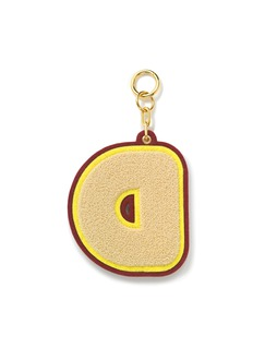 CHAOS Alphabet chenille luggage tag –D