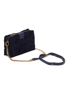 CHAOS Shearling concertina bag – Navy