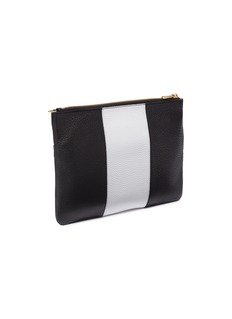 CHAOS Leather clutch – Black/White
