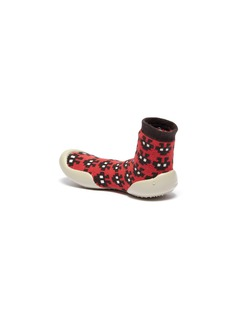Collégien Invader intarsia toddler sock knit sneakers