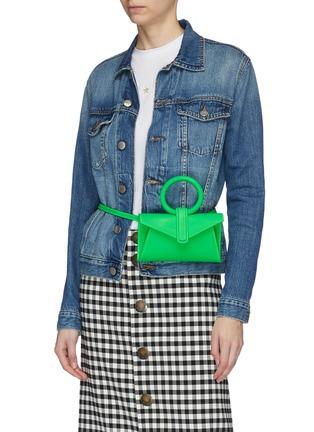 Figure View - Click To Enlarge - COMPLÉT - 'Valery' micro leather envelope belt bag
