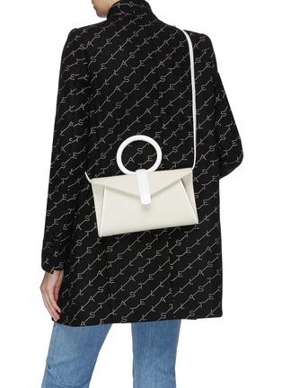 Front View - Click To Enlarge - COMPLÉT - 'Valery' mini linen envelope clutch
