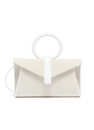Main View - Click To Enlarge - COMPLÉT - 'Valery' mini linen envelope clutch