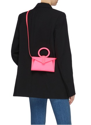 Front View - Click To Enlarge - COMPLÉT - 'Valery' micro leather envelope belt bag