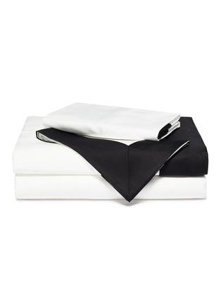 Main View - Click To Enlarge - FRETTE - Bold king size duvet set –Milk/Black
