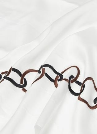 Detail View - Click To Enlarge - FRETTE - Links queen size duvet set –Black/Chestnut