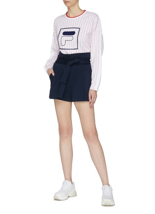 Figure View - Click To Enlarge - FILA X 3.1 PHILLIP LIM - Belted paperbag shorts