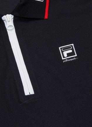 - FILA X 3.1 PHILLIP LIM - Ruffle cuff cropped half-zip polo top