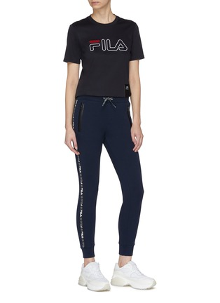 Figure View - Click To Enlarge - FILA X 3.1 PHILLIP LIM - Logo stripe outseam sweatpants