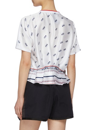 Back View - Click To Enlarge - FILA X 3.1 PHILLIP LIM - Logo print peplum back T-shirt