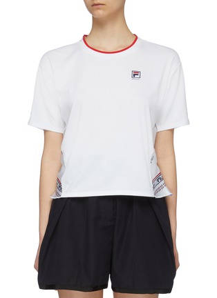 Main View - Click To Enlarge - FILA X 3.1 PHILLIP LIM - Logo print peplum back T-shirt